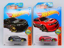 2x 2016 Hot Wheels - Subaru WRX STI Red, Black (Kmart Exclusive)