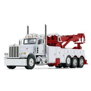 DCP WHITE RED WRECKER PETERBILT 389 36 SLEEPER MILLER 1150 ROTATOR 1/64 60-0882