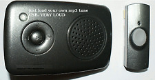 E9A WIRELESS Portable MP3 RECORDABLE DOORBELL DOG  BARKING  /USB CABLE / 32 SNDS