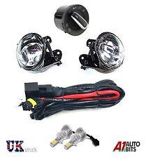 VW PASSAT 3C 06 - 09 FOG LED LIGHTS LAMPS & WIRING LOOM & SWITCH FULL KIT & HB4