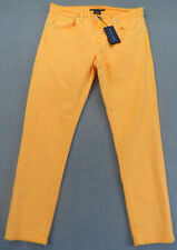 RALPH LAUREN BLUE LABEL Women CRUISE ORANGE DENIM JEANS NWT Sz 29  32 x 28  $198