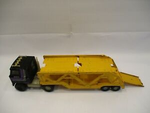 Vintage Ertl Transtar Semi Truck Cab With Car Transporter Played With Condition