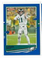 2020 Panini Donruss football Blue press proof photo Variation #205 Carson Wentz