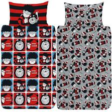 Beano Dennis & Gnasher Single Duvet Cover Reversible Bedding Set