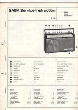 Saba Original Service Manual für Sandy automatic F