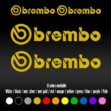"4"" Brembo BBK Big Brake Caliper AMG STI WRX EVO High Temp Vinyl Decal sticker"