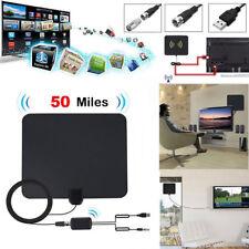 US Indoor Digital TV Antenna 50 Mile Range Signal Booster Amplifier HDTV ANT