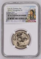 2019 P Native American Enhanced $1 Coin & Currency Set NGC SP69 ER