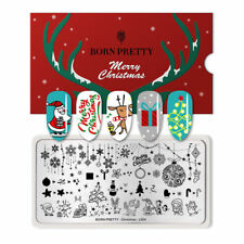 BORN PRETTY Nail Stamping Plate Nail Art Stamp Image Plate Christmas L004