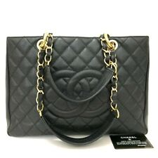 CHANEL Quilted Matelasse Caviar Skin Chain Grand Shopping Tote Bag /p518