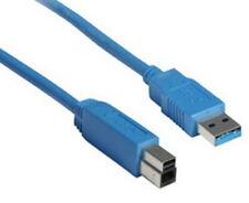 Drucker Anschluß Daten HDD Kabel USB 3.0 Blau 0,5 1 1,8 3 m für Brother HP Epson