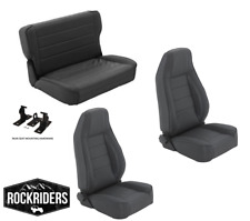 1976-1995 Jeep Wrangler & CJ7 Reclining Front and Rear Seat Combo Kit