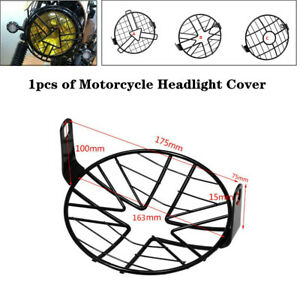 5.75''Headlight Mesh Grill Retro Guard Universal Motorcycle Headlamp Cover Mask
