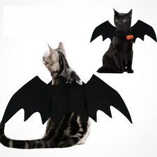 2019 Halloween Pet Dog Cat Costume Cosplay Black Bat Wings Vampire Pumpkin Bell