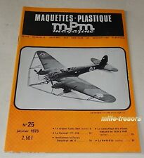 MAQUETTES PLASTIQUE MPM Magazine N°25 1973 : HEINKEL 111-H8 - BMW R75 - Avions