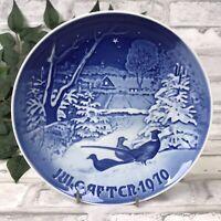 Vintage 1970 B & G Bing & Grondahl Plate Juleafton Pheasants in the Snow Denmark