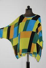 Kaftán Kimono Multicolor Poliéster Cuadro 73cm Talla Única hasta 44/46 Midi