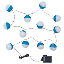 SOLVINDEN LED lighting chain with 12 bulbs, outdoor, solar-powered blue/white