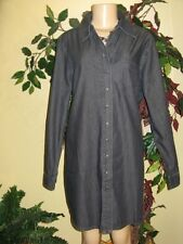 Coldwater creek Women's ladies denim tunic duster jacket long top Plus size 3X