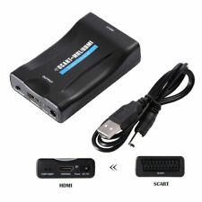 Adattatore SCART a HDMI HD 1080P Video Audio Converter Cavo USB SPINA PER TV DVD