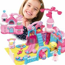 Borsetta Castello Playset Parco dei Divertimenti Giocattolo Bambini con Bambola