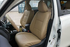 BEIGE LEATHER-LIKE CUSTOM MADE FRONT SEAT COVERS FOR NISSAN ROGUE 2013-2017