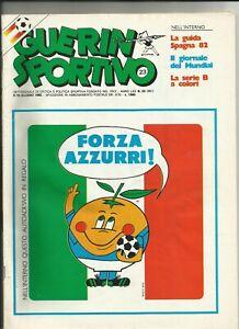 Guerin sportivo N. 23 9-15 giugno 1982 Mondiali Spagna Forza Azzurri