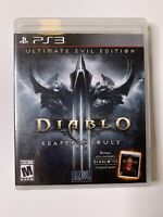 Diablo III Reaper of Souls Ultimate Evil Edition PlayStation 3 PS3 FREE SHIPPING