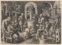 Distillation (Distillatio) : Theodoor Galle : Circa 1590 : Art Print