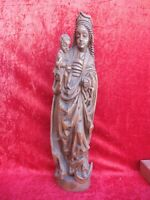 Bella, vecchio Figura di Legno, Madonna, 75,5cm