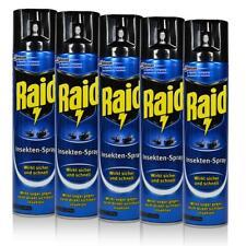 5x Raid Insekten-Spray 400 ml - Wirkt sicher und schnell