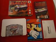 Top Gear Rally (Nintendo 64, 1997) N64 COMPLETE w/ Box manual game WORKS!