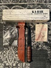Ka-Bar Full Size Us Marine Corps Fighting Knife, Straight As Shown
