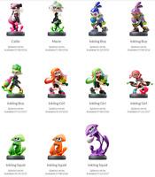 Splatoon Inkling Amiibo Nintendo Variations In Box
