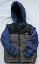 WEATHERPROOF 32 Degrees Boys Winter Vest Parka Hood 4 in 1 Snowboard Blue Black