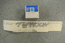 NOS 1992-93 GMC Typhoon Door Cladding Tailgate Black Silver Decal GM 12541179