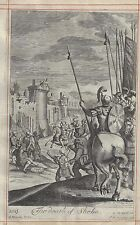 Blome's Bible History - THE DEATH OF SHEBA (2 Sam. 20) - Copper Engraving - 1701