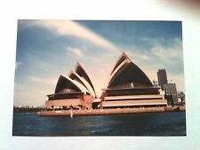 Vintage 80s Photo Family Vacation Australia Sydney Opera House Picture From Boat