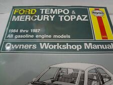 Haynes 1418 Ford Mercury Tempo Topaz 1984-1987 Owners Workshop Manual  EUC