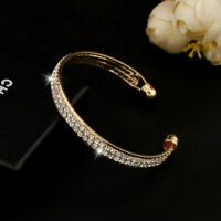 Hot Fashion Style Gold Crystal Rhinestone Bangle Cuff Bracelet Jewelry New Women