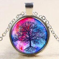 Lebensbaum Halskette Mit Glas Cabochon Anhänger Baum des Lebens tree of life