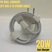 PD 20W Fast Wall Charger Power Adapter USB-C Cable For iPhone 12 Pro Max Mini XR