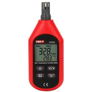 UNI-T UT333 Mini Temperature Humidity Meter Indoor Outdoor LCD Digita Hygrometer