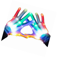 Flashing LED Gloves, Fun Night Toys, Play In The Dark, Light Up, Parties, Party