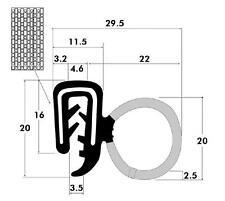 "Universal Weatherstrip / Trim Edge Seal / Sponge Bulb & Dense Rubber .11""-.14"""