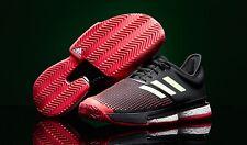 Rare Adidas SoleCourt Boost AdiWear Barricade Tennis Shoes Mens Size 7 Black/Red