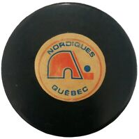 QUEBEC NORDIQUES VINTAGE VICEROY MADE IN CANADA NHL APPROVED OFFICIAL GAME PUCK