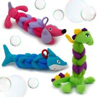 3pk Bath Buds Fun Animal Bathtime Scrunchies Kids Shower Loofah Toy Sponge