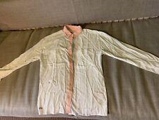 Women Lacoste Live White Pink Shirt Viscose Size 5 BNWT