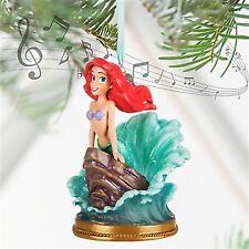 Disney Store Ariel Little Mermaid Singing Sketchbook Ornament Dress Wave NIB